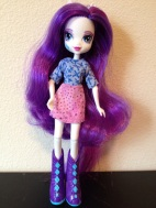 Full length picture of Rarity in her first blouse/skirt